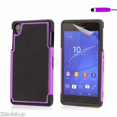 Dual Layer Shockproof Case for Sony Xperia Models + Screen Protector & Stylus