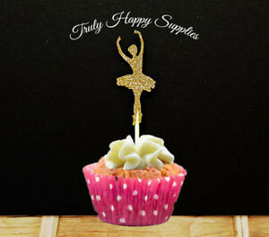 Strange Dancing Ballerina Cupcake Topper 6 Or 12 Birthday Party Cake Funny Birthday Cards Online Overcheapnameinfo
