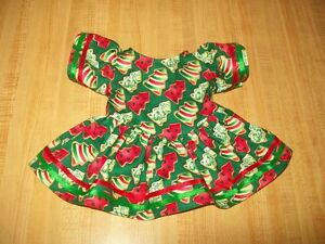CHRISTMAS-TREE-COOKIES-DRESS-w-ribbons-for-16-17-034-CPK-Cabbage-Patch-Kids