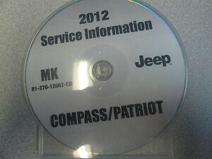 2012 jeep patriot compass service shop repair manual cd