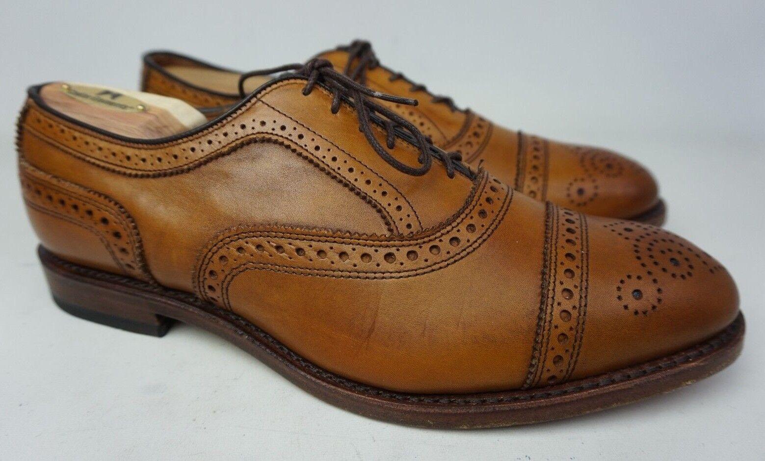 Allen Edmonds Strang Kappe Zeh Oxford Hellbraun Braunes Leder Leder Leder Schuhe Größe 9 D & ea19f3