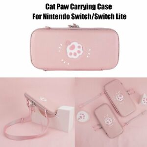 Cute Cat Paw Carrying Case Pouch Bag Portable For Nintendo Switch/Switch Lite