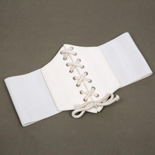 Black Women/'s Ladies Underbust Waist Wide Band Belt Lace Up Cincher Shape Corset
