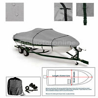 Crestliner Sportsman 16 Ss Sc Trailerable Fishing Bass Ski Jon Boat Cover Grey