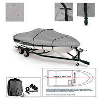 Crestliner Sportsman 16 Ss Sc Trailerable Fishing Bass Ski Jon Boat Cover Grey