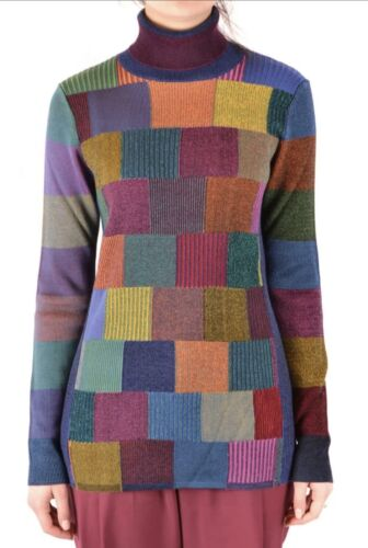 BURBERRY Patchwork Rollneck Sweater  Multicolored