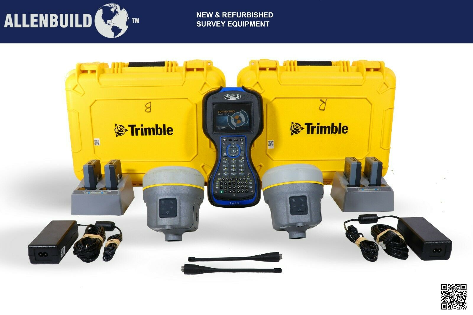 Trimble R12 GPS BASE ROVER KIT FOR CONSTRUCTION AND LAND SURVEYING