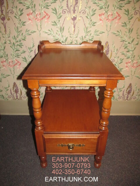 Pair Of Tell City Chair Company Night Table Nightstand Andover Hard Rock  Maple