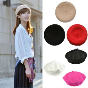 Fashion-Wool-French-Beret-Beanie-Hats-Cap-Winter-Warm-For-Women-Lady-Girls