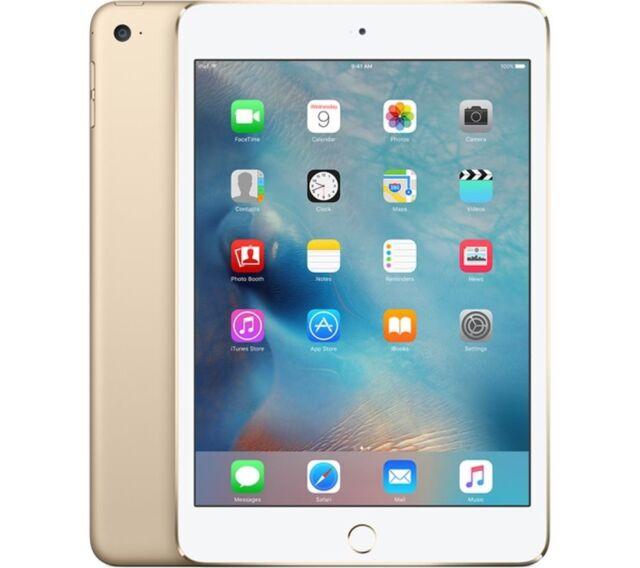 "Apple iPad Mini 4 7.9"" Apple iOS Dorado 128gb Tableta, Bluetooth y Cámara"