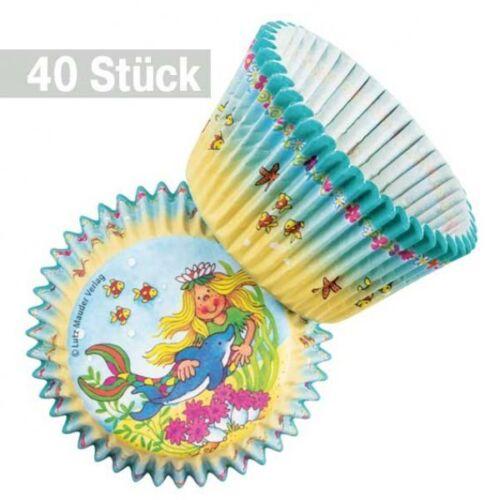 40 Papierförmchen Meerjungfrau Party Muffin Papierformen Nixe Sina Seestern