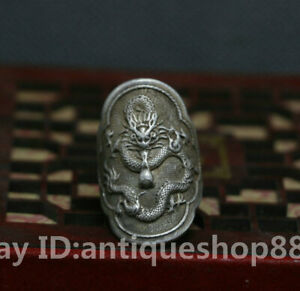 36MM-Old-China-Ancient-Miao-Silver-Zodiac-Year-Dragon-Beast-Fashion-Wedding-Ring