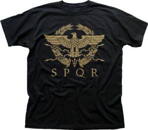 SPQR-Roman-Gladiator-Imperial-Golden-Eagle-Army-printed-t-shirt-FN9183