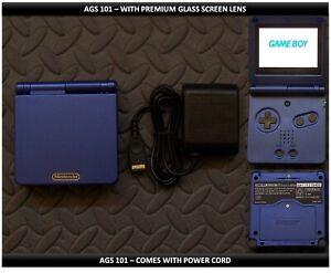 Nintendo Game Boy Advance GBA SP System AGS101 Brighter-Glass Screen Cobalt Blue