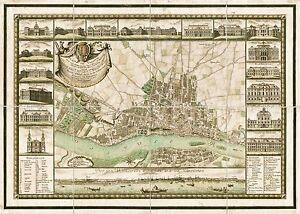 MAP-ANTIQUE-1772-ZANNONI-WARSAW-PICTORIAL-OLD-LARGE-REPLICA-POSTER-PRINT-PAM0223