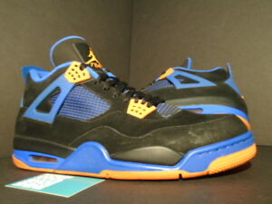 Nike Air Jordan IV 4 Retro BLACK ORANGE BLUE CEMENT CAVS LAST SHOT 308497-027 11
