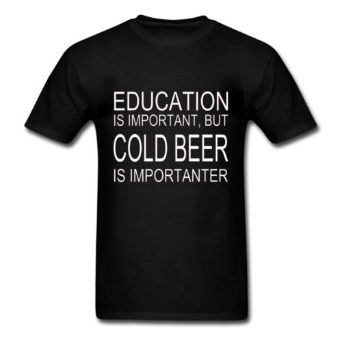 Mens Fitness//Workout Shirt EDUCATION IS IMPORTANT BUT COLD BEER IS IMPORTANTER