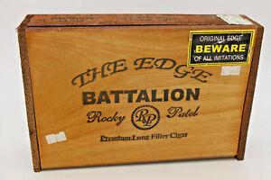 GRANDE-in-legno-Cigar-Box-il-bordo-BATTAGLIONE-Rocky-Patel-Honduras-scatola-vuota
