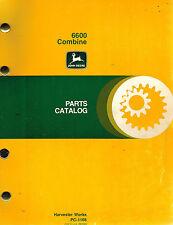 John Deere 6600 Combine Parts Manual Jd