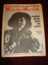 MELODY MAKER 1981 MAR 21 SELECTER STATUS QUO WHO GRATEFUL DEAD SPRINGSTEEN