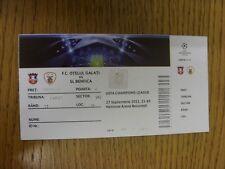 27/09/2011 Ticket: Otelul Galati v Benfica [Champions League] (folded). Thanks f