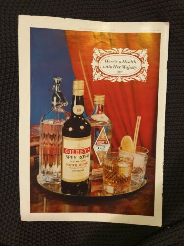Gilbey's Scotch Whisky & Gin 1953 Advertisement