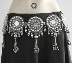 Elegant-BELT-Tribal-Fusion-Belly-Dance-Boho-Gypsy-Kuchi-Skirt-Costume-Jewelry