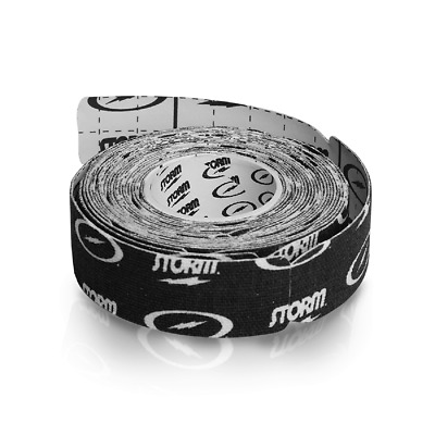 """Storm Bowling PRE-CUT Thunder Tape Black Skin Protection 1/"""" Roll 2 ROLLS"""