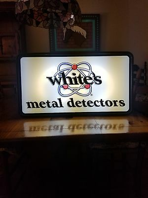White's Electronics Metal Detectors Lighted Store Display Sign