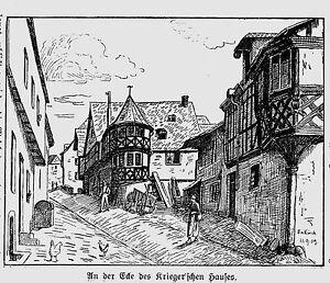 Mosel * Enkirch * all'angolo della casa kriegerschen * 1910 *