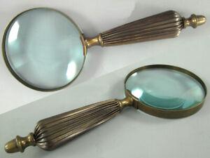 24cm Lang Lupeneinfassung Und Griff Aus Messing Analytisch Lupe Aus Glas Ca Dm 10cm /4 Weniger Teuer