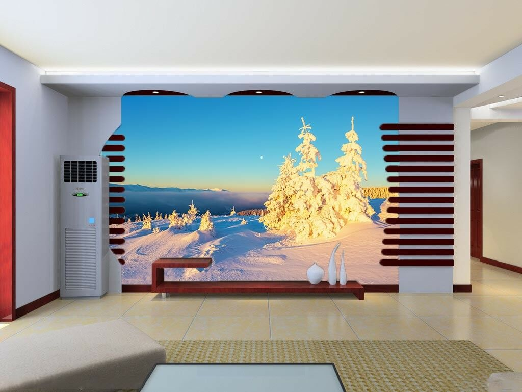 3D Weiß Snow Trees 562 Wall Paper Wall Print Decal Wall Deco Indoor Mural Lemon