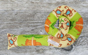 Unparteiisch ♥★ Bettschlange Handmade ★♥ äRger LöSchen Und Durst LöSchen Neu Baby Nestchen Bunte Tiere Safari