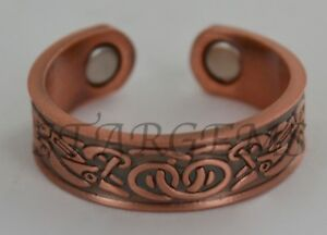MAGNETIC-COPPER-RING-CELTIC-HEALING-ARTHRITIS-AID-PAIN-RELIEF-MENS-WOMENS-GIFT