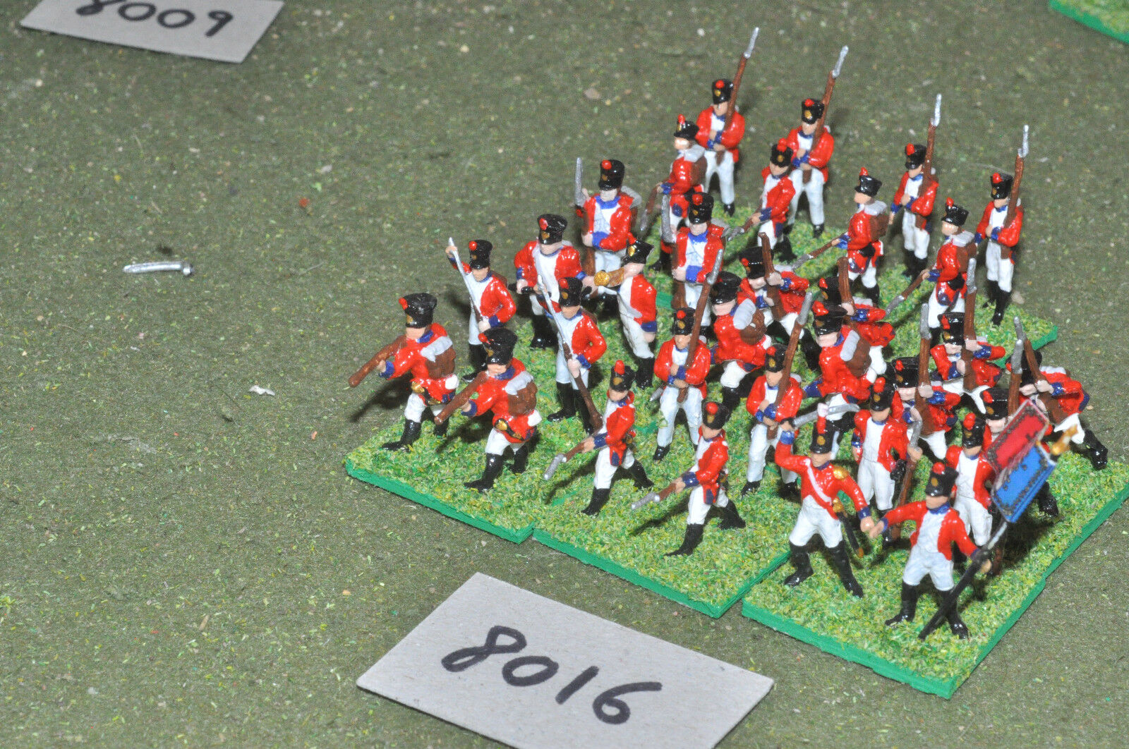 20mm napoleonic   swiss - infantry plastic 32 figs painted - inf (8016)