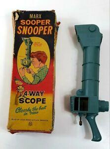 Marx-Foods-Snooper-periscopio-giocattolo-vintage-1960s-nella-confezione-originale-completa