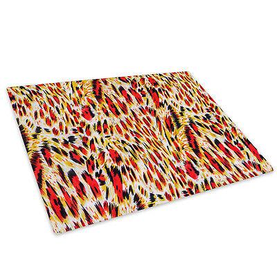 "Leopard Animal Print 12/"" Round Toughened Glass Chopping Board Worktop Saver Gift"