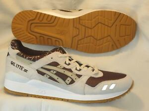 33e74961bb6 Asics Gel Lyte III 3 Sneakers Shoes Mens Sz 11.5 EUR 45 Brown White ...