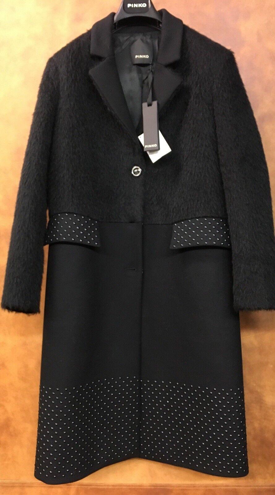 Rosao Damen Woll- Mantel schwarz  Massimo  Gr 34(ital.40) NEU SALE