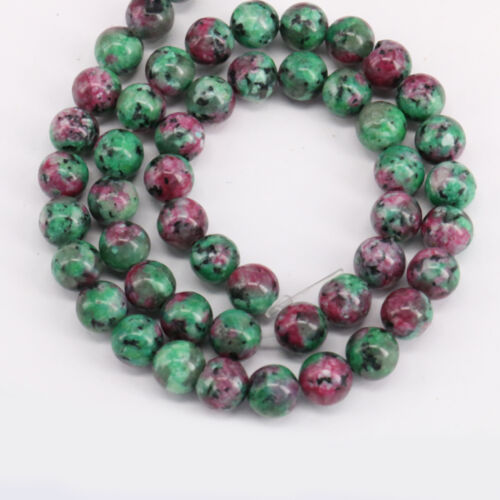 15/'/' Natural Ruby Zoisite Gemstone Stone Spacer Loose Beads Findings 4//6//8//10MM
