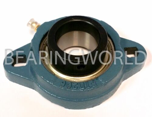 "SAFTD205-16G New 1/"" Eccentric Locking Bearing with 2 Bolt Ductile Flange"
