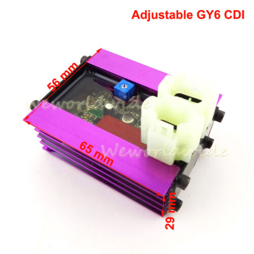 Power Digital Adjustable Ignition CDI For 50cc 125cc 150cc GY6 Moped Scooter ATV