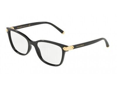 Preciso Montatura Occhiali Da Vista Dolce & Gabbana Autentici Dg5036 Nero 501 Processi Di Tintura Meticolosi