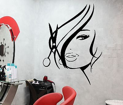 Wall Stickers Vinyl Decal Hot Sexy Girl Hair Spa Beauty Salon z736