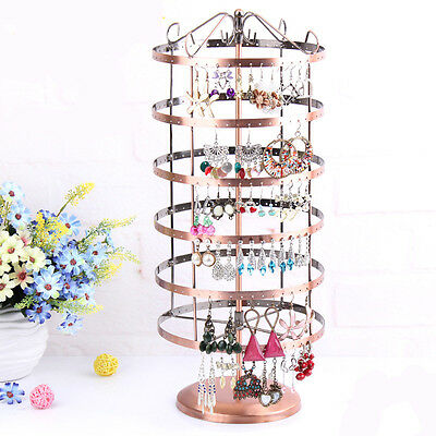 New Fashion Necklace Earring Jewelry Display Stand Rack Holder Iron Bronze Store