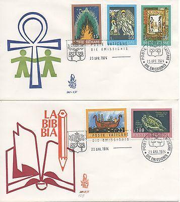 """Briefmarken Vatikan 1974 Fdc Venetien Club Wettbewerb Künstlerisch Auf """"die Bibel"""""""
