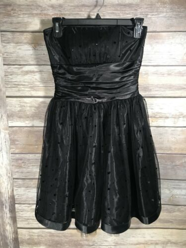Gunne Sax Jessica McClintock black formal dress W… - image 1