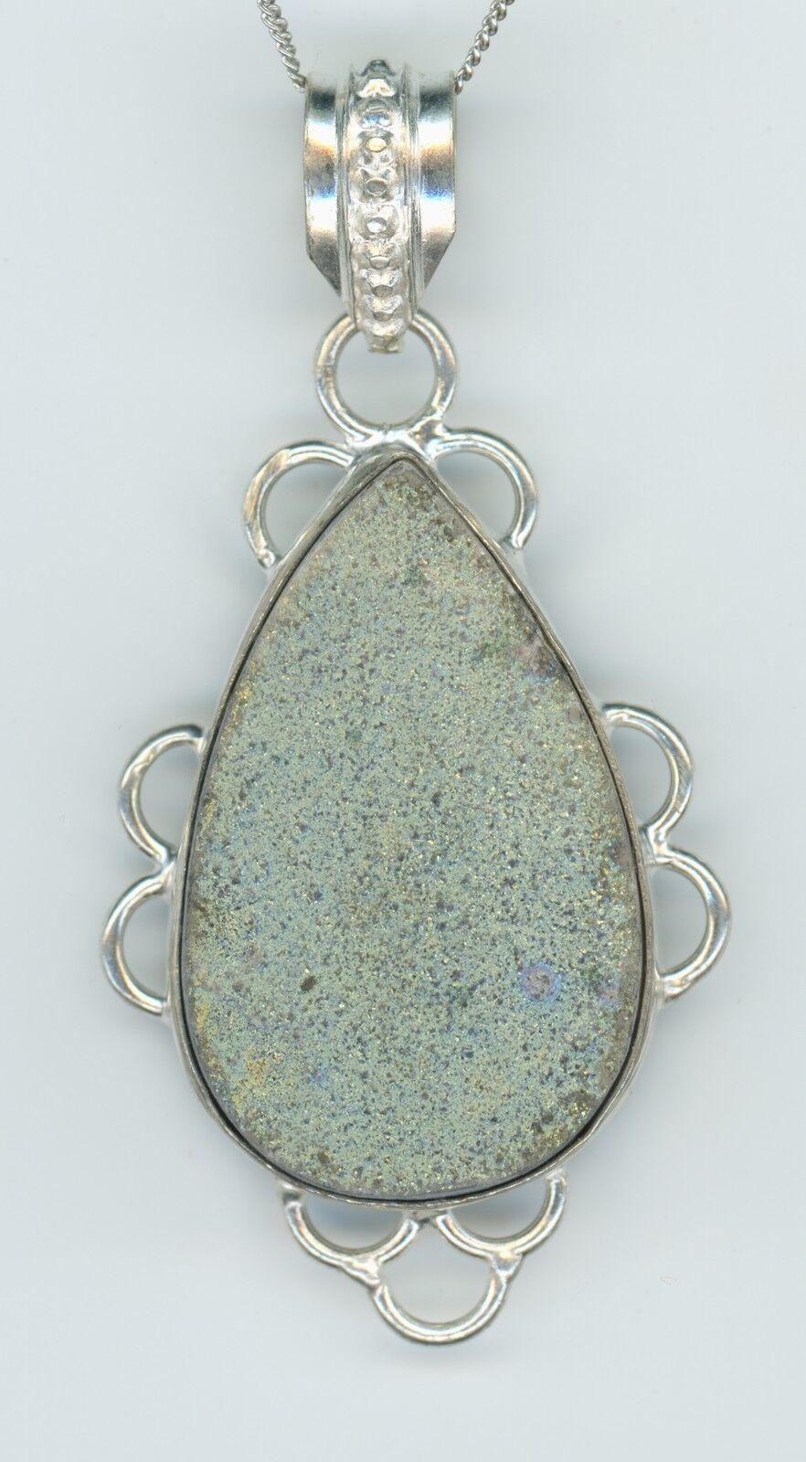 Druzy Green Chrome Chalcedony Necklace Crystal necklace raw necklace organic jewelry