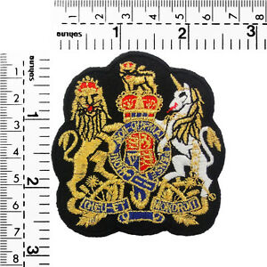 1562IR-Gold-Royal-Crown-Crest-Emblem-Embroidered-Sew-Iron-On-Motif-Badge-Patch