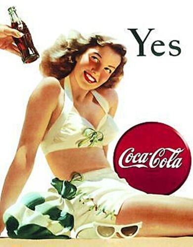 steel fridge magnet de White Swimsuit Coca Cola Yes